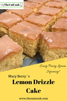 Need some breakfast recipe ideas to get through your morning lectures? Then these 5 easy breakfasts for busy university students are exactly what you need! Mary Berry Lemon Drizzle Cake, Easy Lemon Drizzle Cake, Easy Lemon Cake, Lemon Cakes, Tray Bake Recipes, Easy Cake Recipes, Sweet Recipes, Great British Bake Off, Köstliche Desserts