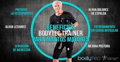 #Bodytec #Trainer ha sido diseñado para cualquier edad y condición física. Un entrenador personal te guiará durante el entrenamiento. Conoce los beneficios para los adultos mayores.