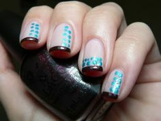 Must try with black tips! Gotta find more uses for that black polish impulse buy...