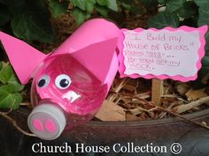 The three little pigs craft and lesson for church school Sunday school.