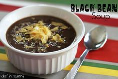 Black Bean Soup!... Healthy, easy and delicious!