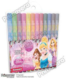 Plumones Princesas Disney http://escritura.papelesprimavera.com/product/plumones-princesas-primavera-2/