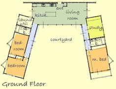 u shaped house plan i used to come up with floor plans all the