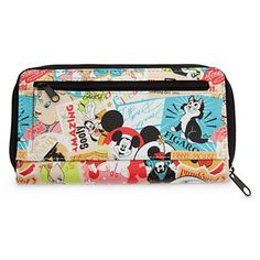 Fill your days with fun and fantasy while clutching this souvenir wallet covered in the happiest Disney characters, icons, and logos and primed with pockets galore for all your card, coin, and cash essentials. I have this wallet and I love it!