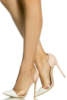 Blush Two Toned Faux Leather Vinyl Pumps @ Cicihot Heel Shoes online store sales:Stiletto Heel Shoes,High Heel Pumps,Womens High Heel Shoes,Prom Shoes,Summer Shoes,Spring Shoes,Spool Heel,Womens Dress Shoes