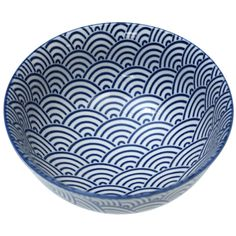 Japanese Blossom Bowl Navy Waves from Rex London - the new name for dotcomgiftshop. Great value gifts and homeware in original designs.