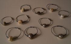 Pearl Skull Rings