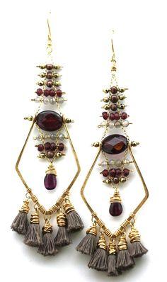 Bodicea Earrings Tassel Jewelry, Bohemian Jewelry, Crystal Jewelry, Wire Jewelry, Custom Jewelry, Handmade Jewelry, Unique Jewelry, Beaded Cuff Bracelet, Wrap Bracelets