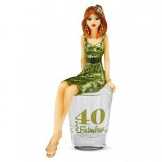 40 And Fabulous Girl in Shot Glass