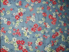 Vintage 1940s Cotton Dress Fabric Floral by TheGatheringVintage