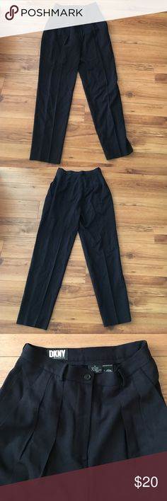 Vintage DKNY Pants Chic, street style trousers from DKNY. Got these in a bundle from another posher, but they're too tight on me. Pleated waist with slightly tapered ankle. Super cute with loafers or booties! DKNY Pants Ankle & Cropped