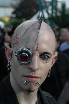 Aubrey Busek: Cyber punk by Kierfot, cyber goth....this is major commitment to a look.