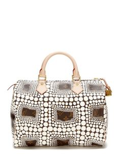 Limited Edition Kusama White Speedy 30 by Louis Vuitton on Gilt.com