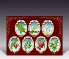 """Sukkot """"Seven Species"""" Poster"""