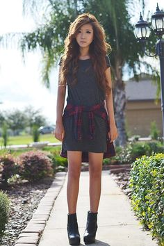 Shop this look on Kaleidoscope (dress, shirt) http://kalei.do/XDdatWd9tvNSeWYf