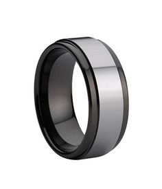 King Will 8mm Tungsten Wedding Ring Men's Two Tone Polished Silver Tone Center and Black Edges | Amazon.com  http://www.amazon.com/King-Will-Tungsten-Colored-Polished/dp/B00LEBUJ2I/ref=sr_1_137?s=apparel&ie=UTF8&qid=1438570398&sr=1-137&refinements=p_4%3AKing+Will