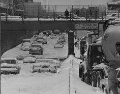 Winter in New York City, 1983                              The blizzard of 1983, which hit from Feb. 10-12, dumped so much snow on New York City that cars were stranded on the Brooklyn-Queens Expressway. Photo from Tom Monaster/New York Daily News
