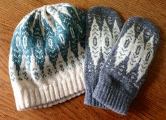 Check out these gorgeous knits! Bought from Hilary Grant http://craftychai.co.uk/tuesday-treat-new-mittens/