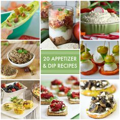 Have trouble thinking of new recipes and ideas when creating your first courses? You'll appreciate these 20 Appetizer and Dip Recipes!