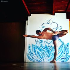 Man Learning Yoga