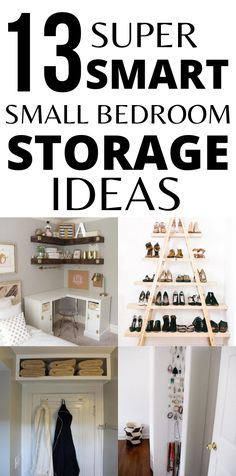 Organize small bedroom with these simple yet effective small bedroom organization hacks. There is nothing better than organizing a small space and feeling in control of your home storage. Small Bedroom Hacks, Small Bedroom Organization, Small Bedroom Storage, Organization Hacks, Organizing Small Bedrooms, Small Pantry Organization, Organizing Ideas, Tumblr Bedroom Decor, Bedroom Decor For Teen Girls