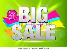 Big Sale Banner. Sale and Discounts. Sale background. Sale tag. Sale poster. Sale vector. Super Sale. Special offer. Big Sale. Big Sale Text Card. Clearance Sale. Vector illustration. Summer Sale. - stock vector