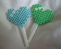 Items similar to Candy/Lollipop. Perler beads on Etsy Diy Perler Bead Crafts, Easy Perler Bead Patterns, Melty Bead Patterns, Perler Bead Templates, Diy Perler Beads, Perler Bead Art, Beading Patterns, Kandi Patterns, Hama Beads Kawaii