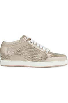 JIMMY CHOO - Miami metallic glitter trainers | Selfridges.com Women Empowerment, Cole Haan, Jimmy Choo, Casual Shoes, Trainers, Miami, Oxford Shoes, Dress Shoes, Metallic