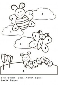9 Best Spring worksheet for kids images | Paint by number ...
