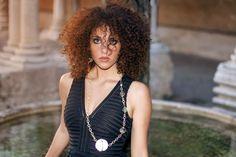 Curly hair girl photos