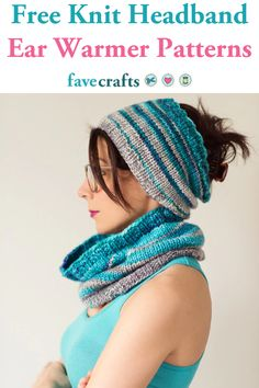 8 Free Knit Headband Ear Warmer Patterns : Free knit headband ear warmer patterns like these will keep you toasty in style. Earmuffs, headbands, you name it – they make the PERFECT knit gifts! Finger Knitting Projects, Knitting Blogs, Knitting Patterns Free, Free Knitting, Knit Patterns, Beginner Knitting, Knitting Machine, Loom Knitting, Baby Knitting