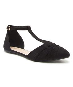 Loving this Black T-Strap Sprinkle Ballet Flat on #zulily! #zulilyfinds