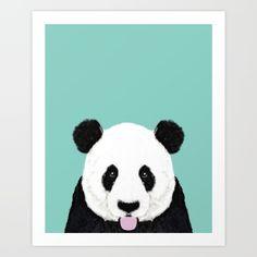 panda, cute, animal, portrait...