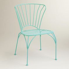 One of my favorite discoveries at WorldMarket.com: Baltic Blue Cadiz Metal Chairs, Set of 2 - Haint Blue
