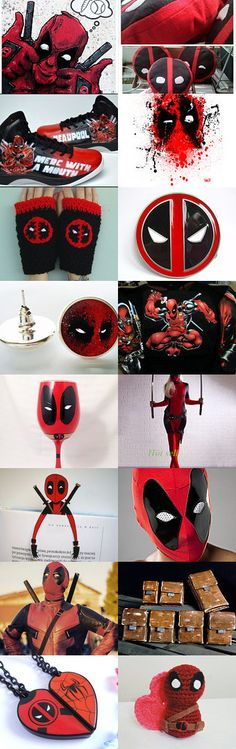 Can't Get Enough of  DeadPool - Geek Attack!  by Flame Alligator on Etsy--Pinned+with+TreasuryPin.com