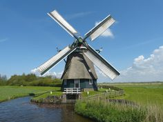 Polder mill Dorregeester Molen, Uitgeest, the Netherlands.