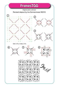 Small, equally spaced dots will give you guidance when drawing patterns, because they are part of the pattern and will easily disappear into the design. Instead of dots the circle grid is based on �