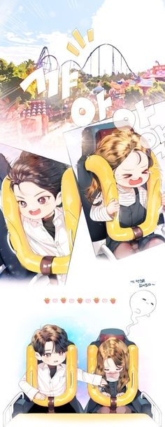 Leo and Lilac go on a roller coaster I'm laughing lol Romantic Anime Couples, Cute Anime Couples, Anime Couples Drawings, Anime Couples Manga, Manga Couple, Anime Love Couple, Anime Korea, Cute Baby Wallpaper, Fanart