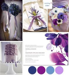 Purple and Blue Wedding Color Palette