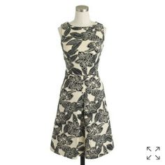 J. Crew Sleeveless Polynesian Flower Print Dress