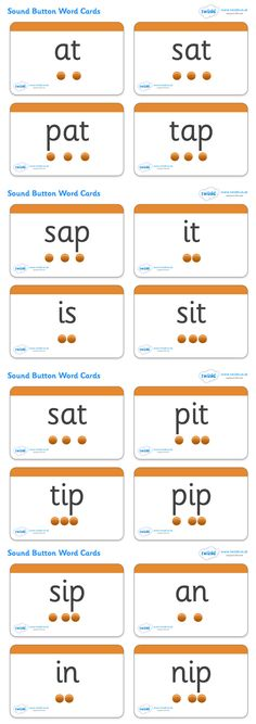 Phase 2 Sounds Button Word Cards - Pop over to our site at www.twinkl.co.uk and check out our lovely Letters and Sounds primary teaching resources! letters and sounds, phase 2, button cards, word cards, flash cards, phonics #literacy_resources #letters_and_sounds