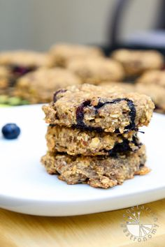 Blueberry Banana Breakfast Cookies recipe #vegan #glutenfree | www.vegetariangastronomy.com