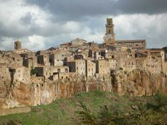 Pitigliano, in southern Tuscany, is perched dramatically on a tufa ridge. It's known as Little Jerusalem for its ancient Jewish quarter, established in the 16th century.