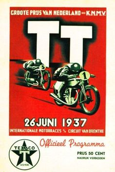 1937 Dutch TT Assen 12th Anniversary Poster