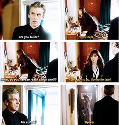 Doctor Who. Twelve and Clara.