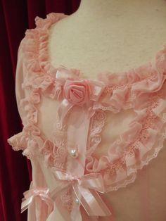 lovely vintage pink bed jacket