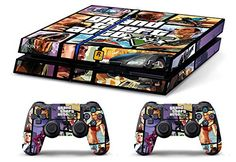 Skin PS4 HD GTAV Grand Theft Auto 5 limited edition Playstation 4 COVER DECAL