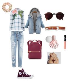 """""""Simply"""" by lejlaidrizovic ❤ liked on Polyvore featuring Dsquared2, Ted Baker, Converse, Sophie Hulme, Ray-Ban, Maison Boinet and NARS Cosmetics"""