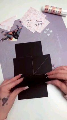 Diy Crafts Hacks, Diy Crafts For Gifts, Diy Arts And Crafts, Cute Crafts, Diys, Paper Crafts Origami, Origami Art, Oragami, Diy Birthday