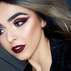 """@zobeautyy paired her burgundy look with our Ombre Blush in """"Mauve Me""""."""